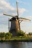Moinho de vento do pomar Fotografia de Stock