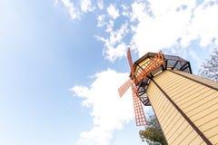 Moinho de vento e céu fotos de stock