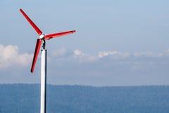 Moinho de vento e montanha Fotografia de Stock Royalty Free