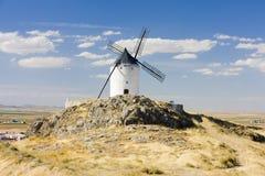Moinho de vento em Consuegra imagens de stock