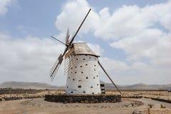 Moinho de vento em Fuerteventura Imagem de Stock