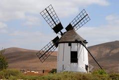 Moinho de vento em Fuerteventura Fotos de Stock