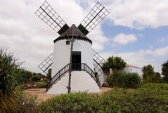 Moinho de vento em Fuerteventura Foto de Stock Royalty Free