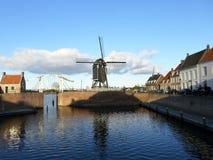 Moinho de vento em Heusden, os Países Baixos Fotos de Stock Royalty Free