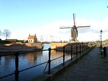 Moinho de vento em Heusden, os Países Baixos Imagens de Stock