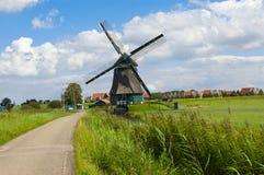 Moinho de vento em Holland Fotografia de Stock