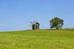 Moinho de vento em Kizhi, Rússia Fotografia de Stock
