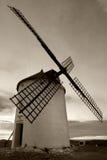 Moinho de vento em preto e branco Foto de Stock Royalty Free