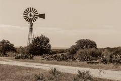 Moinho de vento em Texas Hill Country Imagem de Stock