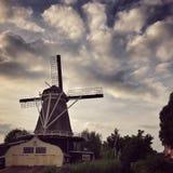Moinho de vento em Utrecht Fotos de Stock Royalty Free