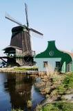 Moinho de vento em Zaanse Schans, Holland Foto de Stock Royalty Free