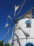 Moinho de vento em Zakynthos Greece Fotos de Stock