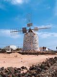 Moinho de vento, Fuerteventura Foto de Stock