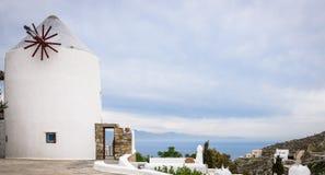 Moinho de vento Grécia Imagem de Stock Royalty Free