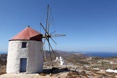 Moinho de vento grego Fotografia de Stock Royalty Free