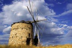 Moinho de vento grego Imagem de Stock