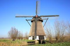 Moinho de vento histórico De oude Doorn na província Brabante norte, os Países Baixos Foto de Stock Royalty Free