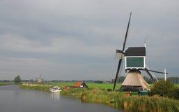 Moinho de vento holandês Imagens de Stock