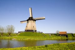 Moinho de vento holandês 20 foto de stock royalty free
