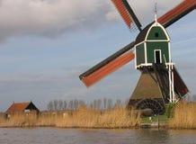 Moinho de vento holandês 3 Fotografia de Stock