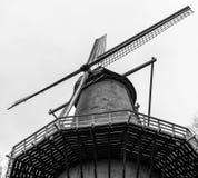 Moinho de vento holandês Fotografia de Stock
