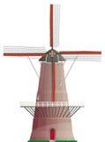 Moinho de vento holandês isolado Foto de Stock