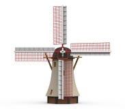 Moinho de vento holandês isolado Imagens de Stock