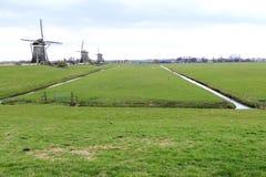 Moinho de vento holandês, Leidschendam perto de Den Haag Imagem de Stock Royalty Free
