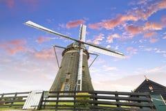 Moinho de vento holandês, Leidschendam perto de Den Haag Imagens de Stock