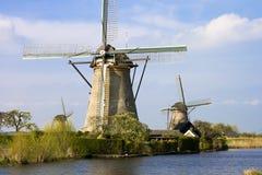 Moinho de vento Holland fotos de stock