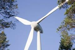 Moinho de vento moderno Fotos de Stock Royalty Free