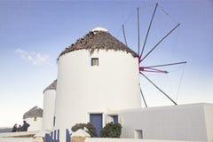 moinho de vento Mykonos Gr?cia dos bonis fotos de stock