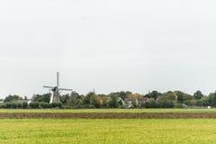 Moinho de vento na paisagem holandesa imagem de stock royalty free