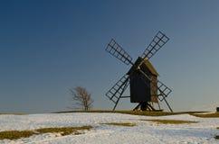 Moinho de vento na primavera Fotografia de Stock Royalty Free
