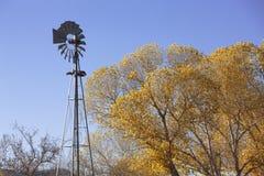 Moinho de vento no ajuste rural Foto de Stock Royalty Free