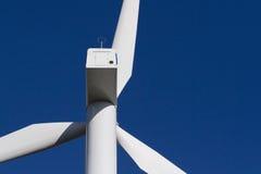 Moinho de vento no céu azul Fotos de Stock Royalty Free