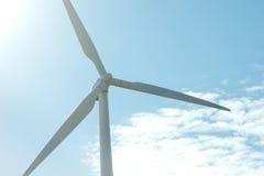 Moinho de vento no céu azul Imagem de Stock Royalty Free