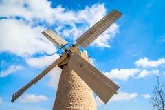 Moinho de vento no Jerusalém Imagens de Stock