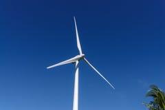 Moinho de vento no monte Imagem de Stock