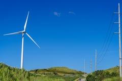 Moinho de vento no monte Imagens de Stock