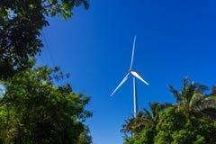Moinho de vento no monte Fotografia de Stock Royalty Free