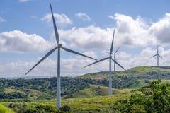 Moinho de vento no monte Fotografia de Stock