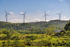 Moinho de vento no monte Fotos de Stock Royalty Free
