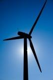 Moinho de vento no sol Fotos de Stock Royalty Free