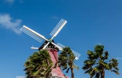 Moinho de vento nos trópicos Fotos de Stock Royalty Free