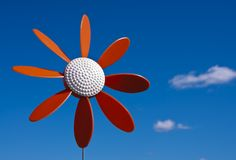 Moinho de vento plástico da flor Foto de Stock Royalty Free