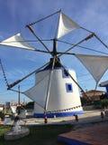 Moinho de vento português imagem de stock