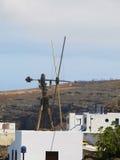 Moinho de vento Puerto de las Nieves Imagens de Stock