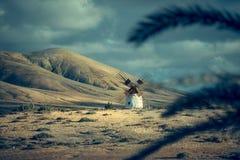 Moinho de vento só Fotografia de Stock