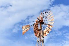 Moinho de vento Texas recolhido imagem quando em uma movimentação fotografia de stock